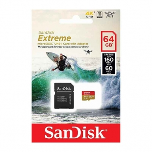 SANDISK MICRO SD EXTREME SDHC 64 GB