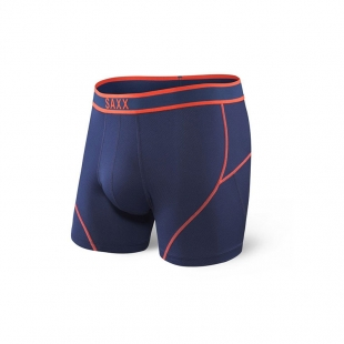 SAXX KINETIC Boxer Midnight Blue / Orange