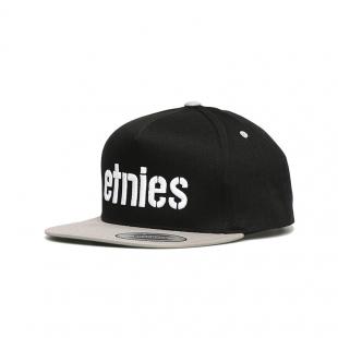 ETNIES Corp Snapback Black/Silver