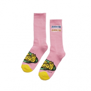 RVCA Skarpety Hot Fudge Crew Pink OS