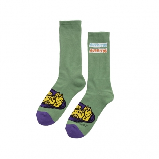 RVCA Skarpety Hot Fudge Crew Green OS