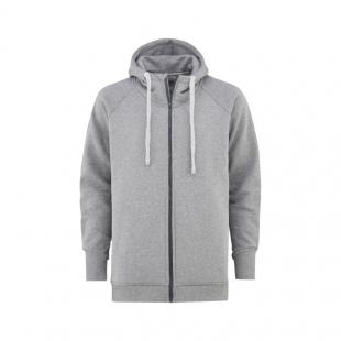 MAJESTY Zipped Hoodie SUPER Grey