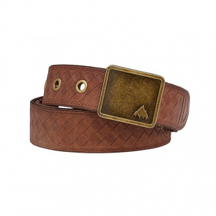 BURTON EMBOSSED LEATHER brown leather